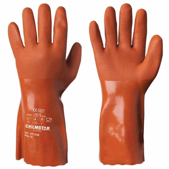 Odporne chemicznie rękawice winylowe/PVC Chemstar®