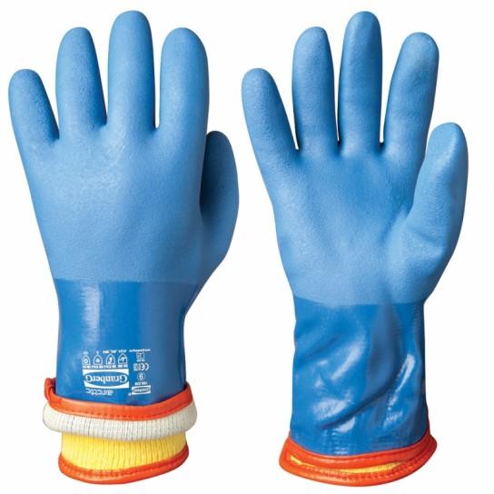 Odporne chemicznie zimowe rękawice winylowe/PVC Chemstar®