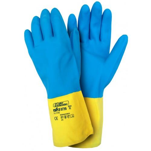 Rękawice z neoprenu i gumy lateksowej - 2 COLOR DEFENDER