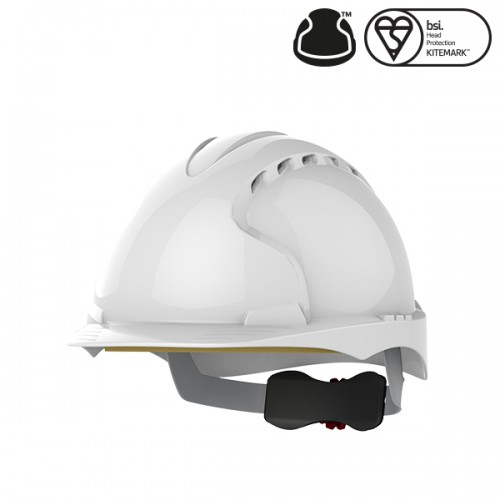 Kask Ochronny JSP Evo3 z wentylacją, regulowany Biały