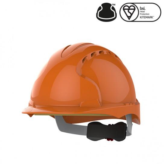 Kask Ochronny JSP Evo3 z wentylacją, regulowany Pomarańczowy