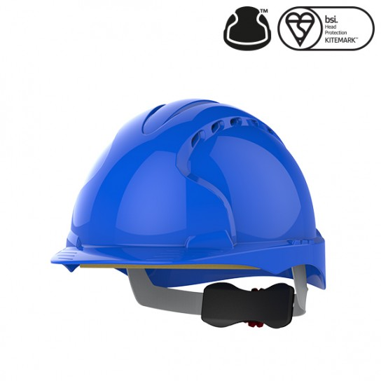 Kask Ochronny JSP Evo3 z wentylacją, regulowany Niebieski