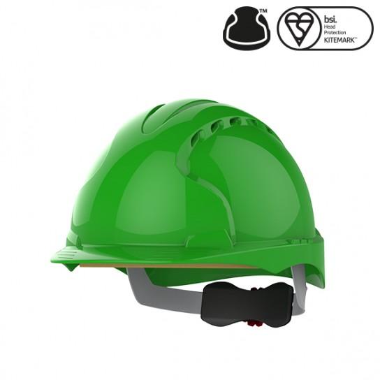 Kask Ochronny JSP Evo3 z wentylacją, regulowany Zielony