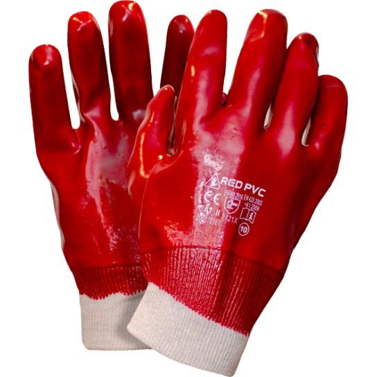 Rękawice RED PVC