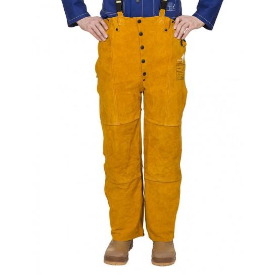 Skórzane spodnie spawalnicze z dwoiny bydlęcej