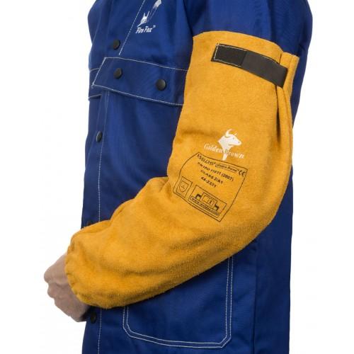 Skórzane rękawy spawalnicze z dwoiny bydlęcej (para)