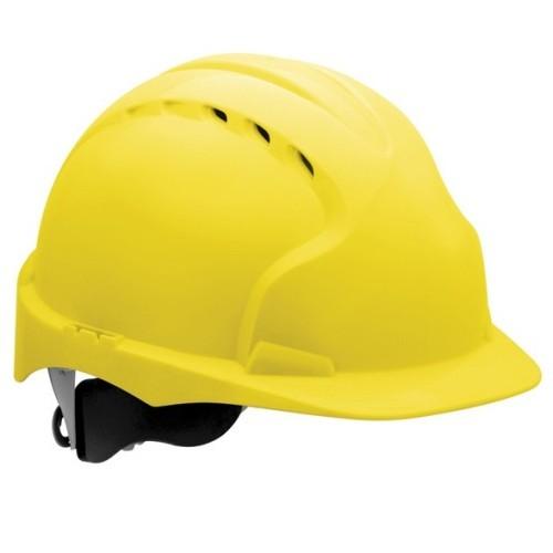 Kask Ochronny JSP Evo3 z wentylacją, regulowany Żółty